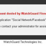 WatchGuard Firewall HTTP Proxy - Blocked Website