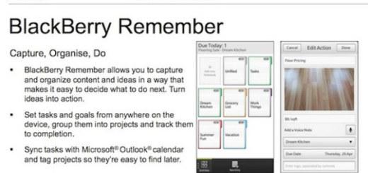 BlackBerry Remember - BB 10 Task Manager