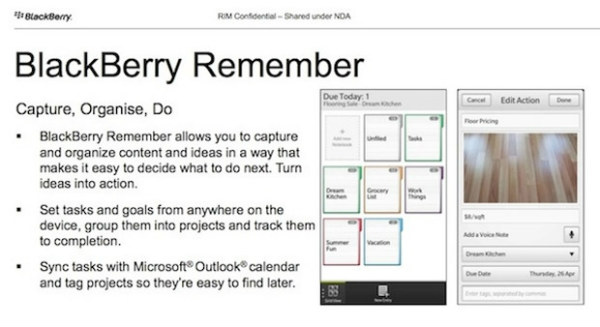 BlackBerry Remember - BB 10 Task Manager